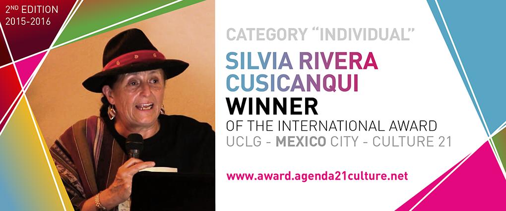 SILVIA RIVERA CUSICANQUI Banner